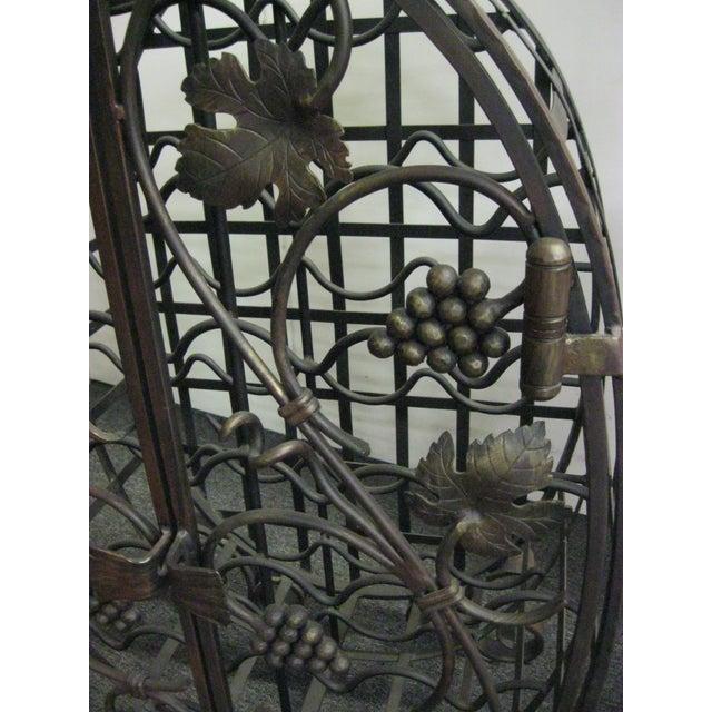 Custom Wrought Iron 24-Bottle Wine Cage - Image 9 of 10