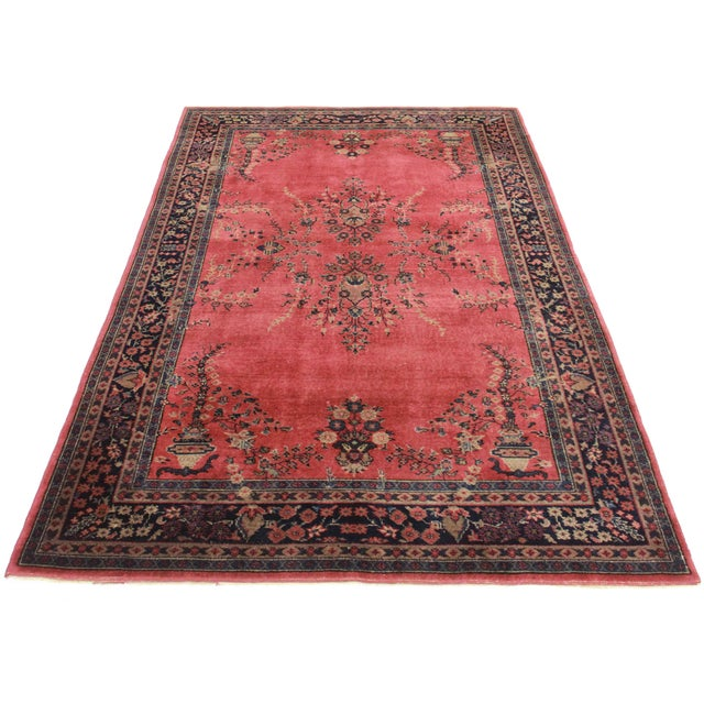 RugsinDallas Antique Hand Knotted Wool Turkish Sparta Rug - 6′ × 8′10″ - Image 2 of 2