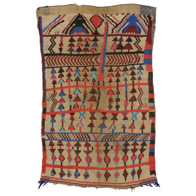 Textile Vintage Mid-Century Berber Moroccan Rug - 4′7″ × 6′9″ For Sale - Image 7 of 7