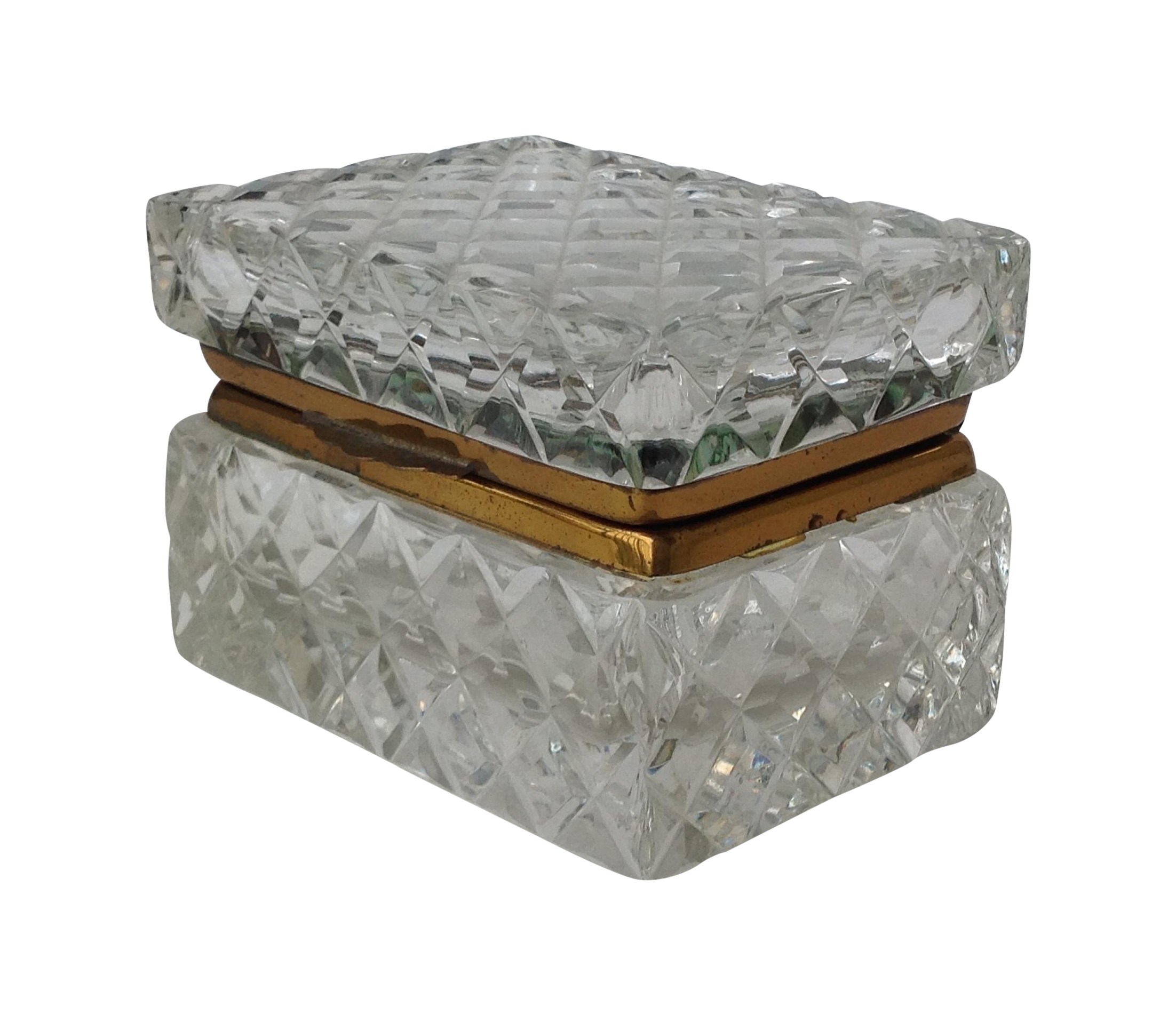 Antique Cut Glass Jewelry Box Chairish