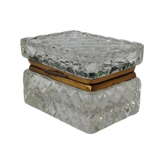 Antique Cut Glass Jewelry Box For Sale