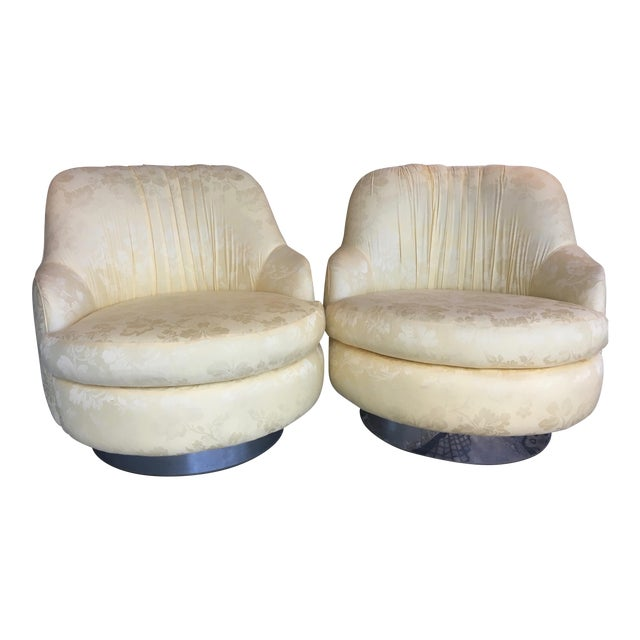 Milo Baughman Mid-Century Swivel & Rocking Slipper Chairs - A Pair - Image 1 of 6