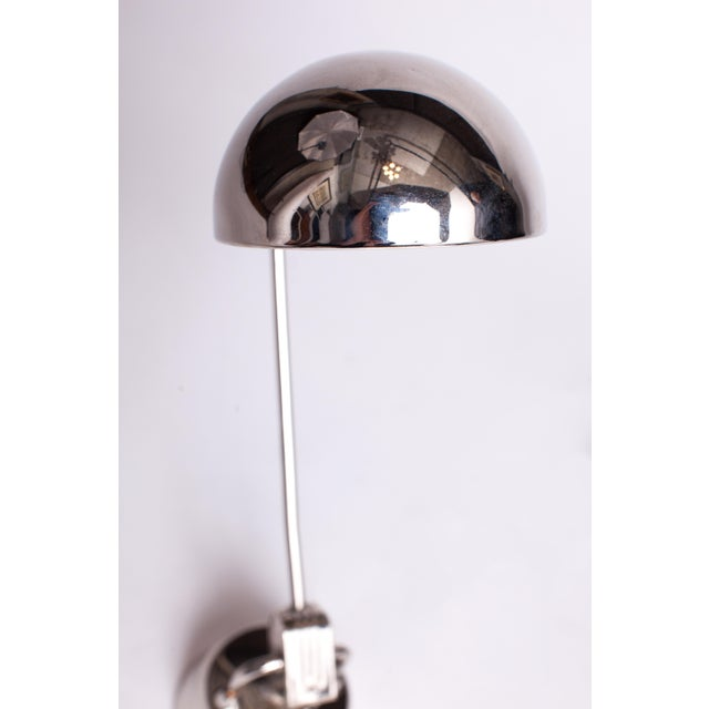 1940s 1940s Charlotte Perriand Jumo 600 Round Chrome Table Lamps - a Pair For Sale - Image 5 of 6