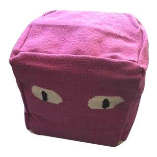 """Purple """"Eye"""" Pouf by Aelfie For Sale"""