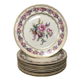 Rosenthal Vienna Gold Filigree Dinner Plates Set of 8 For Sale