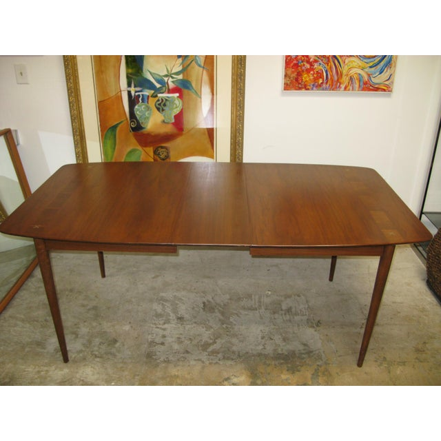 1960s Mid Century American of Martinsville Walnut Dining Table For Sale - Image 5 of 10