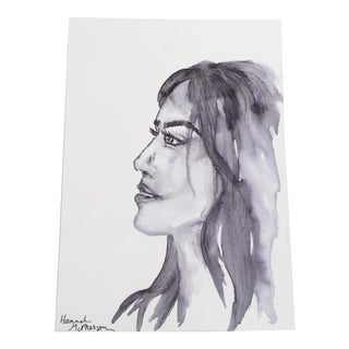 Modern Portrait Ink Painting