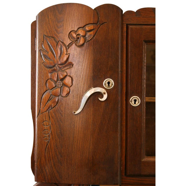 1920 French Art Deco Carved Grapes Buffet - Image 5 of 8