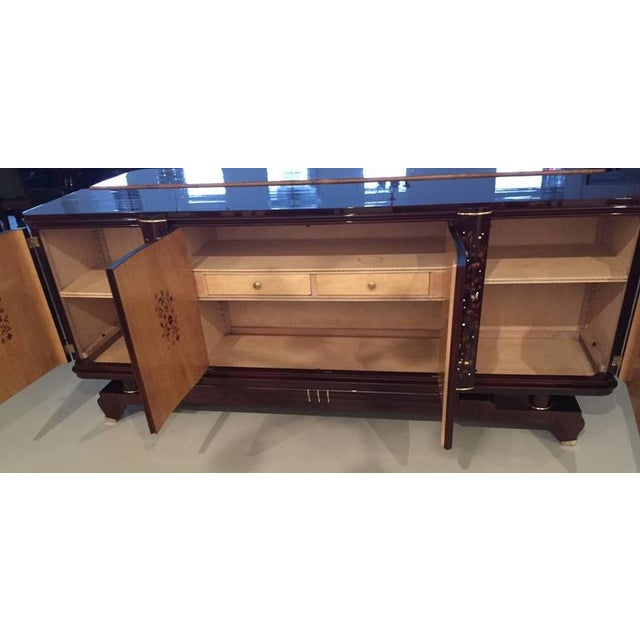 Jules Leleu Style 1920s French Art Deco Buffet For Sale In New York - Image 6 of 10