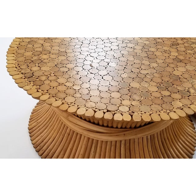 Vintage 1960s Rattan Wheat Sheaf Coffee Table by McGuire For Sale - Image 11 of 12