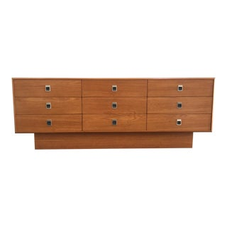 Danish Modern Teak Lowboy Bureau For Sale