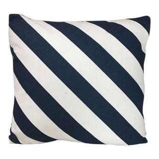 Kim Salmela White & Blue Striped Pillow