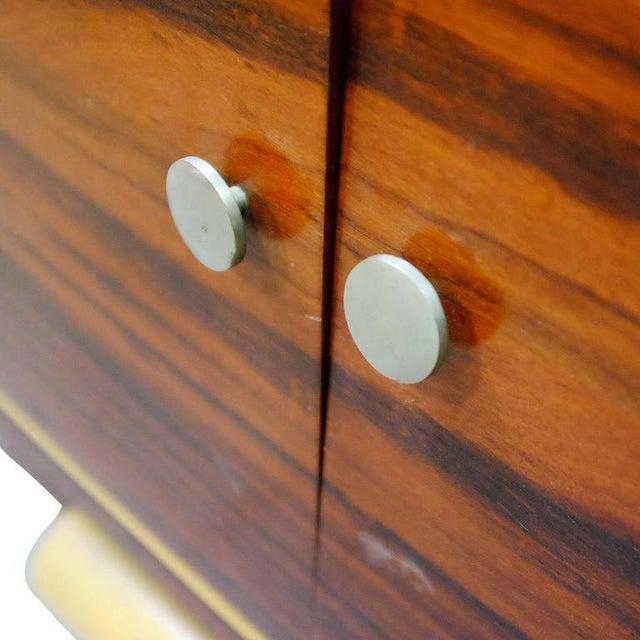 High Style Art Deco Macassar Ebony Vitrine Cabinet & Secretary Desk - Image 7 of 7