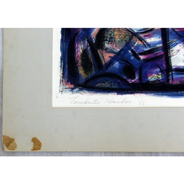"""Modern """"Tenants Harbor"""" by Emil Weddige Unframed Lithograph For Sale - Image 3 of 6"""