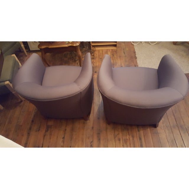 Bernhardt Blue Club Chairs - A Pair For Sale - Image 5 of 7
