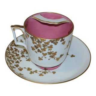 Vintage Tiffany & Co. Mustache Cup & Saucer For Sale