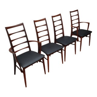 1960s Lis Chair in Teak by Niels Koefoeds for Koefoeds Mobilfabrik - Set of 4 For Sale