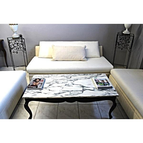 Modern Designer Armless Sofa Settee For Sale - Image 10 of 10