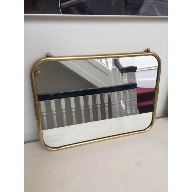 Art Deco Brass Horizontal Mirror - Image 2 of 5