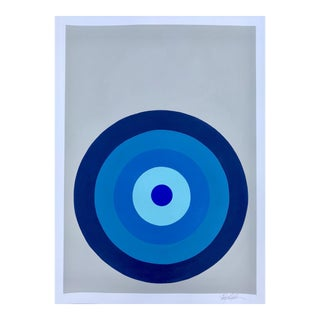 Target Practice in Blues Painting by Stephanie Henderson