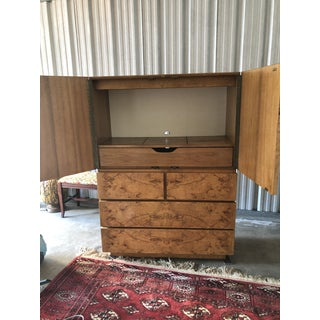 1970s Mid Century Modern Roland Carter for Lane Olive Burled Chest of Drawers Preview