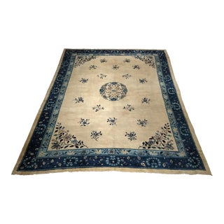 Late 19th Century Antique Chinese Peking Carpet - 9′ × 11′3″ For Sale
