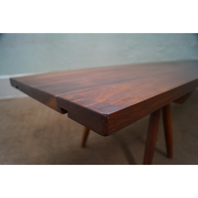 Studio Made Solid Walnut Long Low Table/Bench - Image 4 of 10