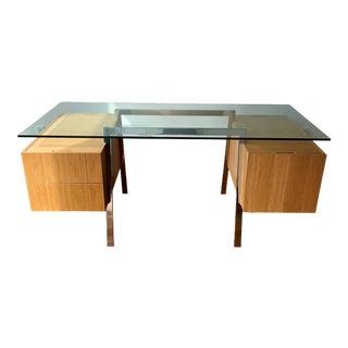 Mid-Century Modern Niels Bendtsen Homework 2 Desk With Glass Top For Sale