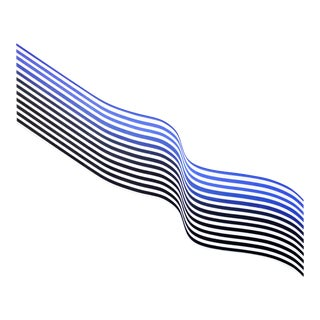 """Cristina Ghetti """"Double Wave Blue"""", Painting For Sale"""