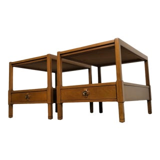 Drexel Mid-Century Modern End Table / Nightstand - a Pair For Sale
