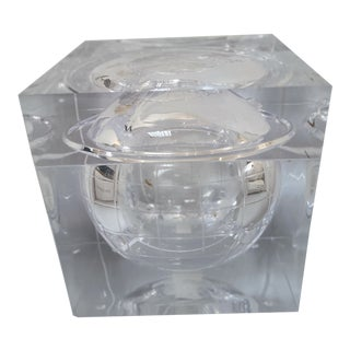 Aero Studios Ice Bucket With Globe Detail For Sale