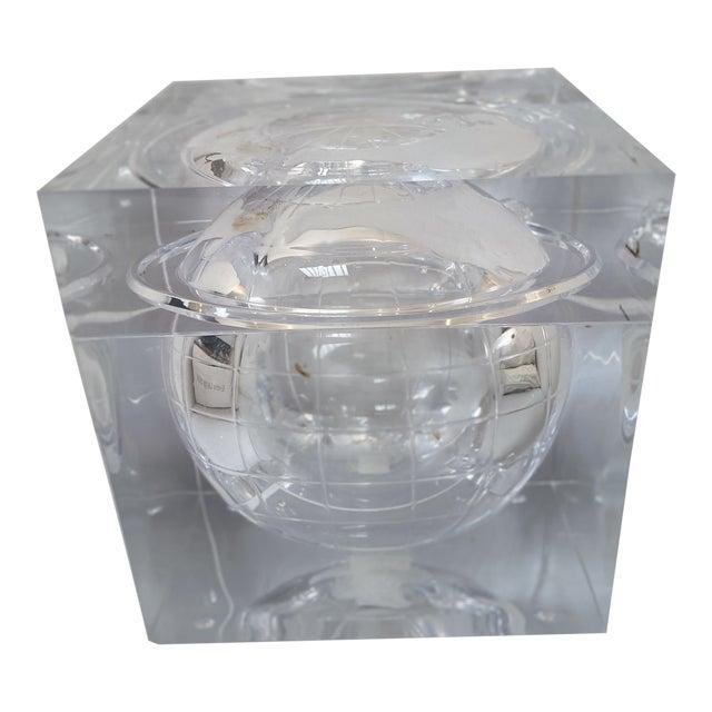 Aero Studios Ice Bucket With Globe Detail For Sale