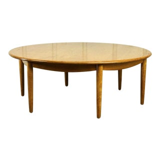 Vintage Russell Wright Conant Ball Mid Century Large Round Coffee Table For Sale
