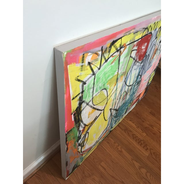 "Abstract ""Takes Village"" Contemporary Abstract Painting For Sale - Image 3 of 8"