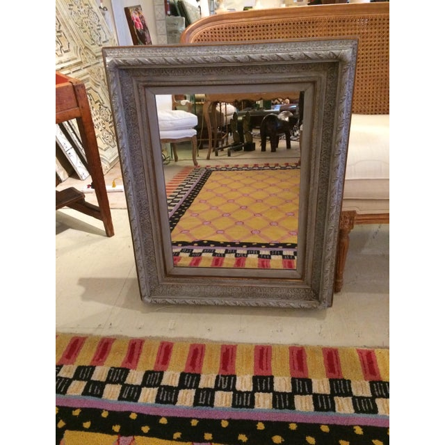 Gustavian Grey Carved Wood Mirror For Sale In Philadelphia - Image 6 of 6