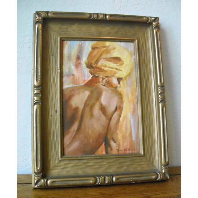 Vintage Oil Painting of a Creole Woman - Image 6 of 6