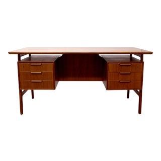 Danish Omann Jun Model 75 Teakwood Executive Desk For Sale