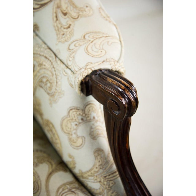 Wood 19th C. French Louis XV Style Low Bergere Chair For Sale - Image 7 of 11