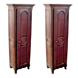 Charming Pair of 18th Century French Single Door Cabinet of Rare Size