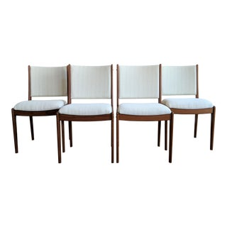 Mid-Century Scandinavian Woodworks Teak Dining Chairs -Set of 4 For Sale