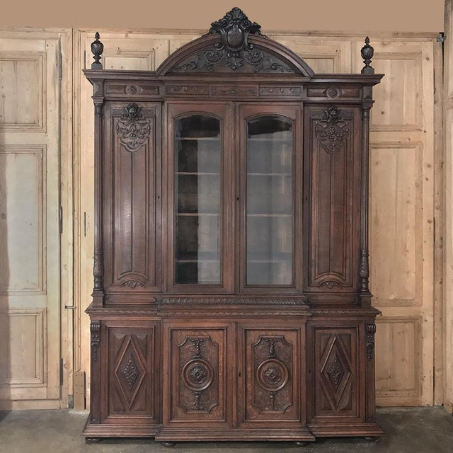 19th Century French Renaissance Grand Bookcase For Sale - Image 13 of 13