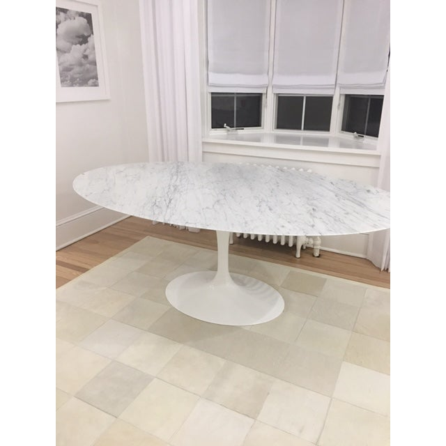 Knoll & Eero Saarinen White Dining Table - Image 4 of 11