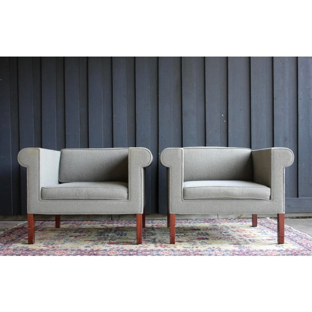 1980s Charles McMurray Postmodern Lounge Chairs, a Pair For Sale - Image 5 of 11
