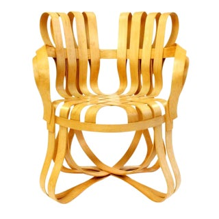 1990s Mid-Century Modern Frank Gehry Cross Check Chair For Sale