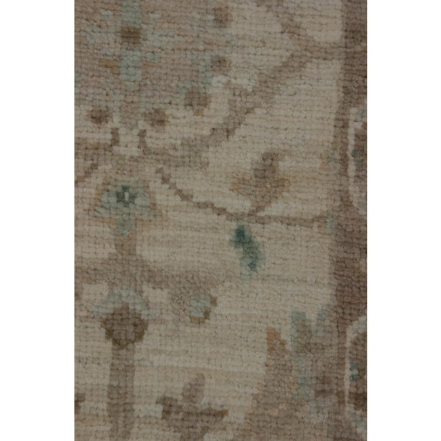 "Contemporary Oushak Hand Knotted Area Rug - 6'0"" X 9'1"" For Sale - Image 3 of 4"