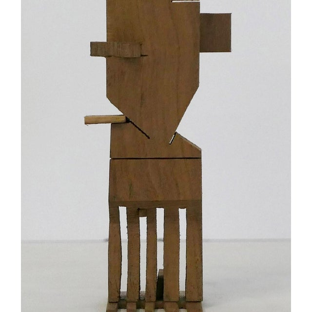 2010s Los Angeles Artist Behzad Haghiri's Hand Made Walnut Sculpture For Sale - Image 5 of 6