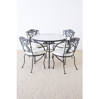 Set of Four Neoclassical Style Iron Garden Patio Chairs Preview