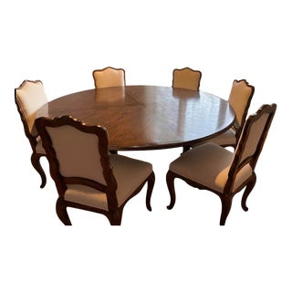Vintage Dining Set by Interior Crafts- 7 Piece For Sale