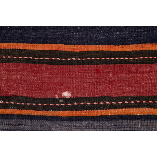 "Mid-20th Century Vintage Kilim Runner Rug 5' 2"" X 10' 10''. For Sale - Image 9 of 13"