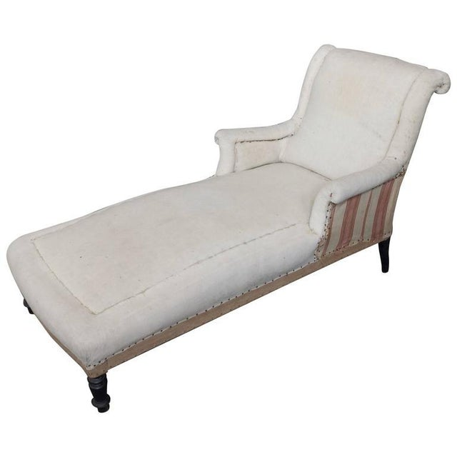 French 19th Century Chaise Longue With Scrolled Back - Image 8 of 8